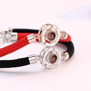 Bracelet Je t'aime en 100 langues corde