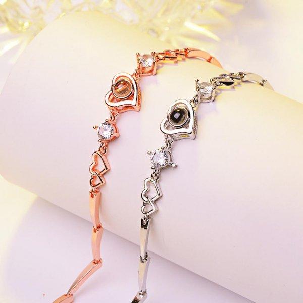 Bracelet je t'aime 100 langue coeur